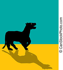 Black panther silhouette