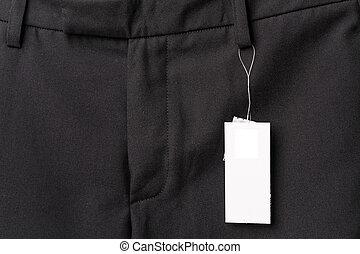 black pants close up