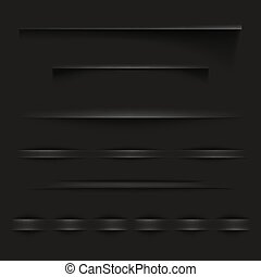 Black paper shadow lines vector illustration