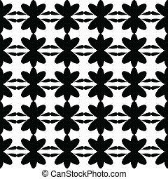 Black pattern floral seamless
