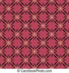 Black pattern on pink seamless background.