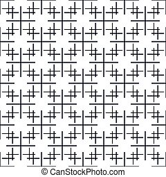 Black pattern on white seamless vector background.