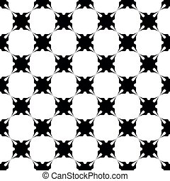 Black pattern on white seamless vector design.