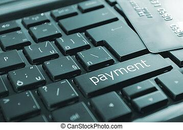 black payment button