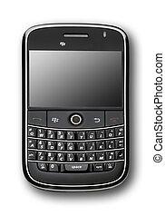 Black PDA. isolated