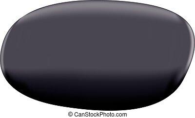 Black pebble isolated on white background - vector eps 10