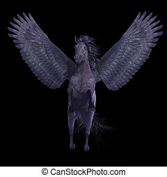 Black Pegasus on Black