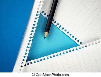 black pencil on paper