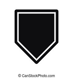 Black pennant icon, simple style