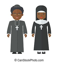 black people Priest nun