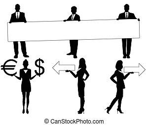 Black people silhouettes