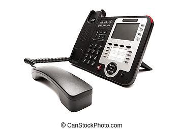 black phone isolated on white background