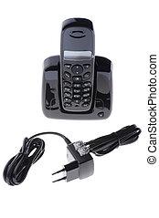 Black phone on white background