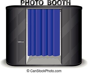 Black photo booth vending machine. Vector illustration - ...