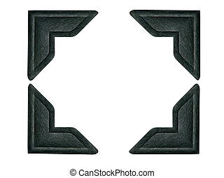 Set of 4 Black photo corners. 4 paths included - one for each corner.
