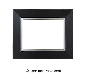 Black photo frame isolated on a white background