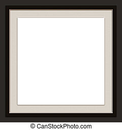 black photo frame - A modern / contemporary picture frame.