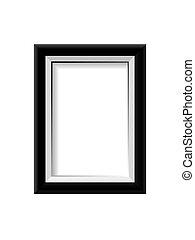 Black photo frame. Vector