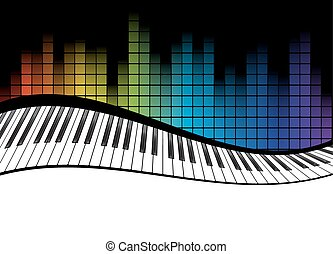 black piano template - poster background template. Music...