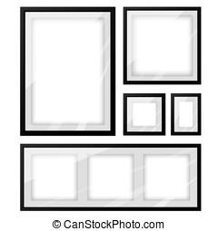 Black picture frame set