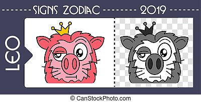 black pig zodiac leo