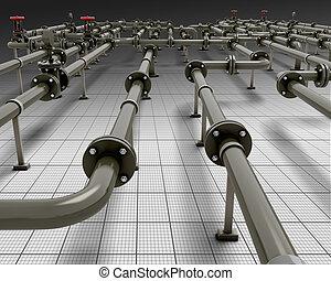 Black pipeline construction