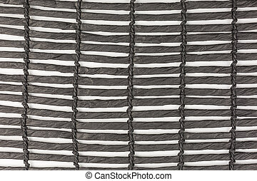 black place mat - close-up of black place mat