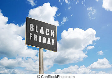 Black plank with Black Friday sign
