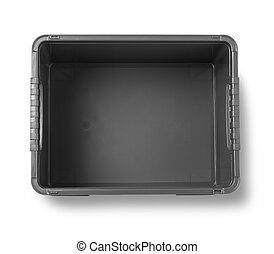 black plastic box isolated