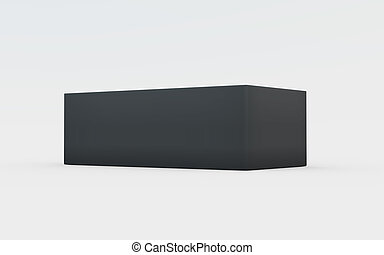 black plastic box tray lower view - black cardboard material...