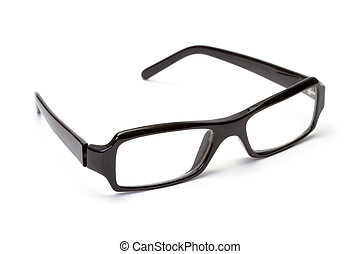 Black plastic glasses