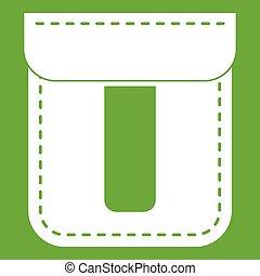 Black pocket icon green