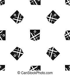 Black pocket patch pattern seamless black