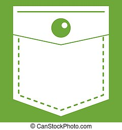 Black pocket symbol icon green