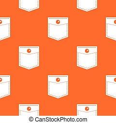 Black pocket symbol pattern seamless
