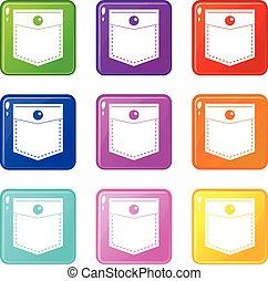 Black pocket symbol set 9