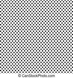 Black polka dots pattern background