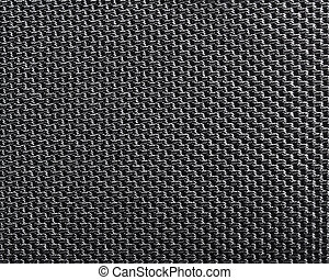Black polyester texture background. Close up