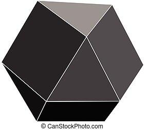 Black polygon stone.