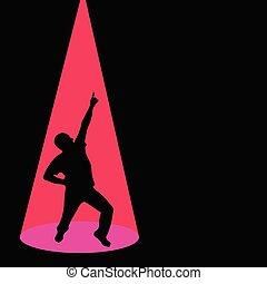 black , pose, silhouette, man, dancing