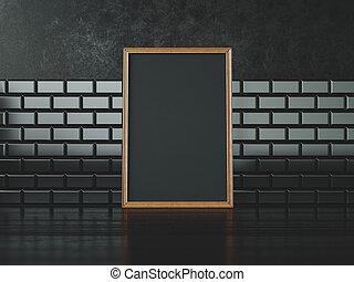 Black poster frame. 3d rendering