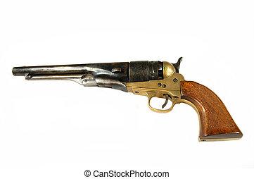 revolver on white