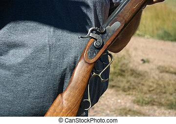 Black powder rifle barrel  Front end of old 50 caliber black