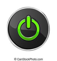 Black power button