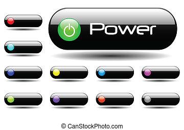 Black Power Buttons
