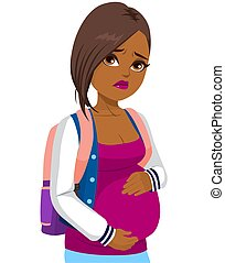 Black Pregnant Teenager Girl