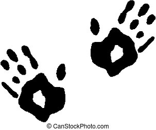 Black print of a hands