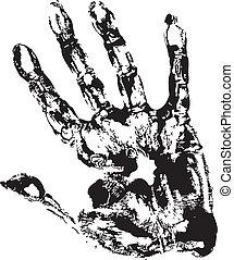 Black Print of hand