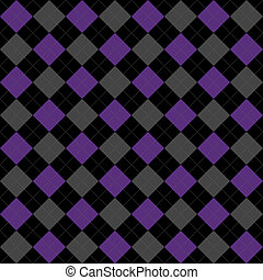 Black, Purple and Gray Argyle Pattern Repeat Background