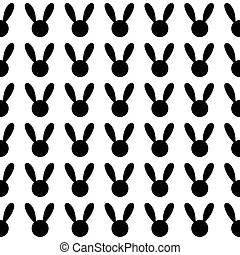 Black Rabbit White Background